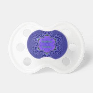 Chic Purple Lavender 'Simplicity Lifestyle' Pacifier