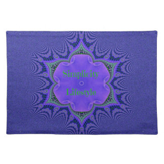 Chic Purple Lavender 'Simplicity Lifestyle' Placemat