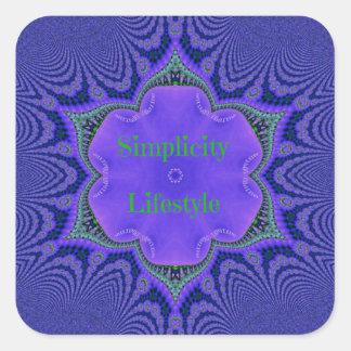Chic Purple Lavender 'Simplicity Lifestyle' Square Sticker
