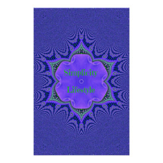 Chic Purple Lavender 'Simplicity Lifestyle' Stationery