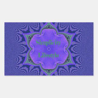Chic Purple Lavender 'Simplicity Lifestyle' Sticker