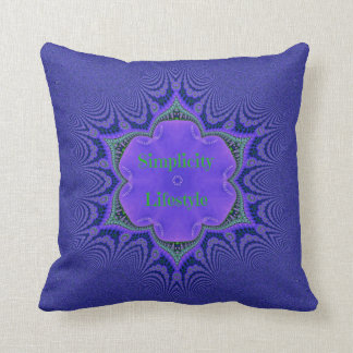 Chic Purple Lavender 'Simplicity Lifestyle' Throw Pillow