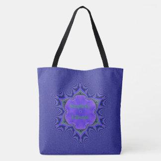Chic Purple Lavender 'Simplicity Lifestyle' Tote Bag
