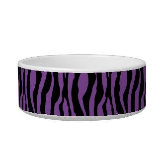 Chic Purple Zebra Print Pearls Monogram Name Dish