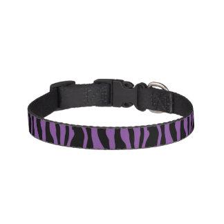 Chic Purple Zebra Print Pet Collar