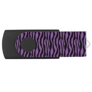 Chic Purple Zebra Print USB USB Flash Drive