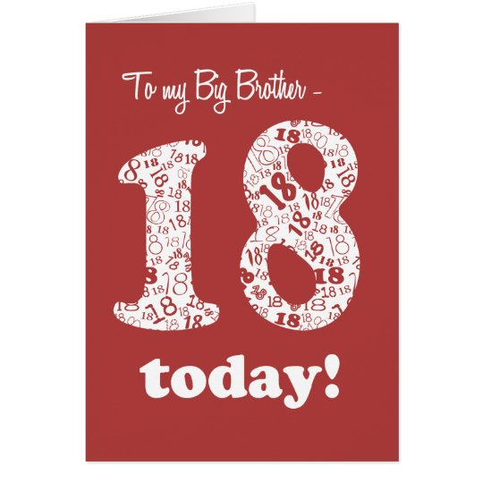 Chic Red 18th Birthday Card for Big Brother