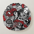 Chic Red & Black Paisley Pillow