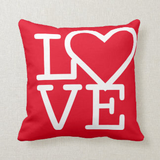 Chic Red Hot Love Heart Room Decor Square Pillow