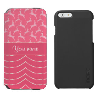 Chic Reindeer and Hanging Lights Personalized Incipio Watson™ iPhone 6 Wallet Case