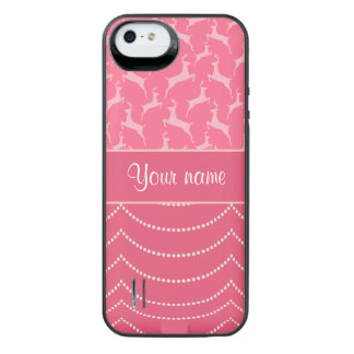 Chic Reindeer and Hanging Lights Personalized iPhone SE/5/5s Battery Case