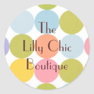 CHIC RETRO BUSINESS / OCCASION GIFT WRAP STICKER