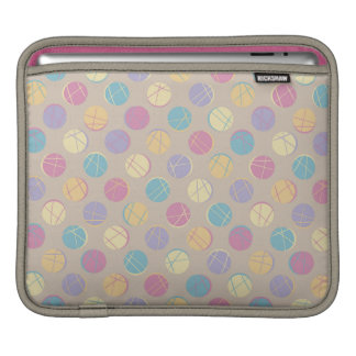 Chic retro vintage beige colorful dots ipad marrie sleeves for iPads