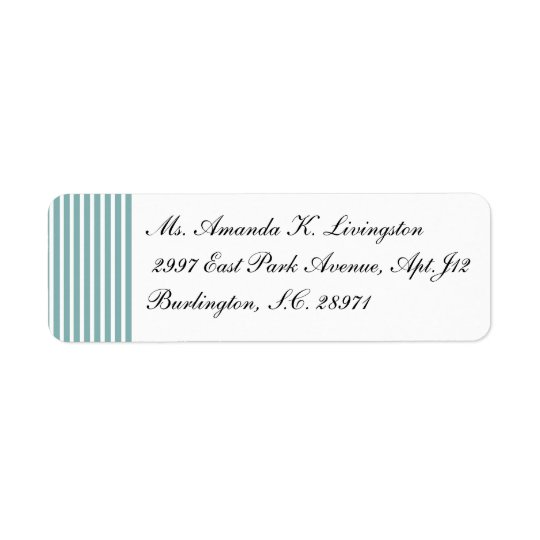 CHIC RETURN LABEL_132 SEAFOAM/WHITE STRIPES