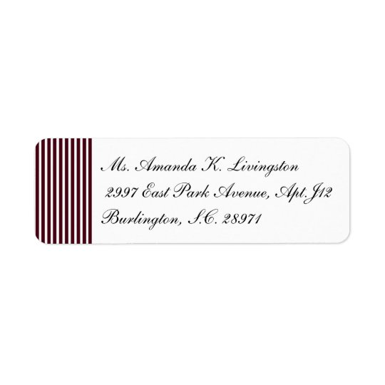 CHIC RETURN LABEL_71 OXBLOOD/WHITE STRIPES