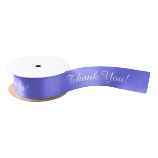 """CHIC RIBBON_""""Thank You!"""" 171 PERIWINKLE SOLID Satin Ribbon"""