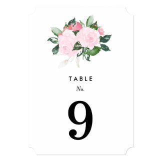 Chic Romance | Table Numbers Card