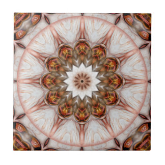 Chic Rose Gold Feather Geometric Fantasy Tile