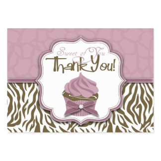 Chic Safari TY Gift Tag 2 Large Business Card
