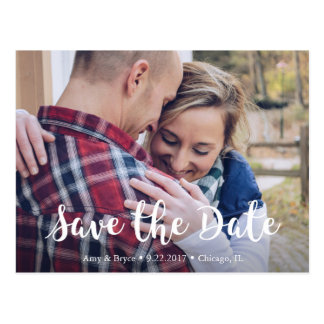 Chic Save the Date Postcard