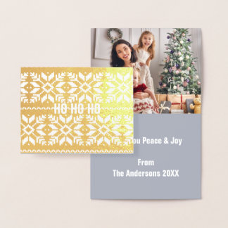 chic scandinavian modern nordic christmas sweater foil card