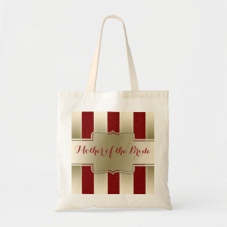 Chic Script | Mother of the Bride Glam Gold Red Tote Bag