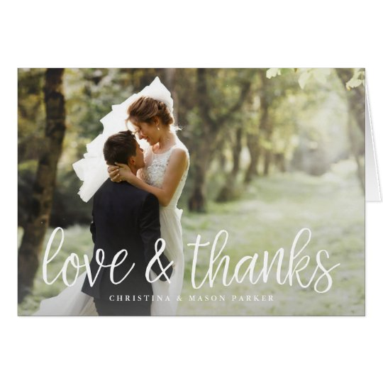 Chic Script | Wedding Photo Thank You Card