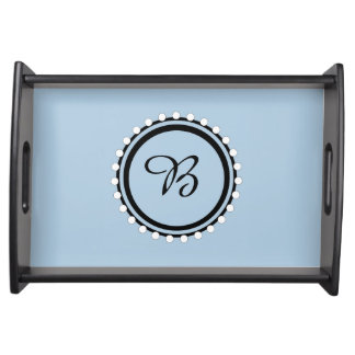 CHIC SERVING TRAY_21 BLUE/BLACK/WHITE DESIGN SERVING TRAY