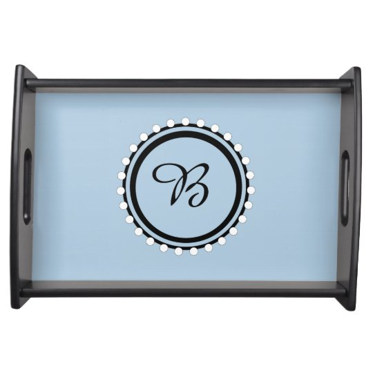 CHIC SERVING TRAY_21 BLUE/BLACK/WHITE DESIGN SERVING TRAYS