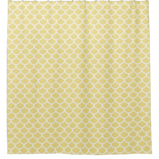 CHIC SHOWER CURTAIN_WHITE SCALES ON 09 BUTTER
