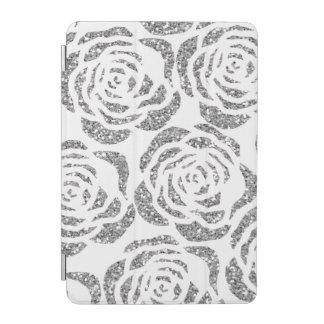 Chic Silver Faux Glitter Roses iPad Smart Cover iPad Mini Cover