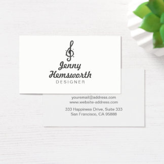 Chic Silver Foil Minimalist with Curly Design Business Card