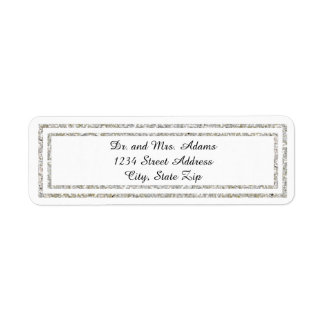 Chic Silver Trim - Address Label