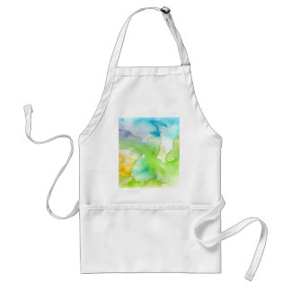 Chic Simple Beautiful Abstract Watercolor Pattern Standard Apron