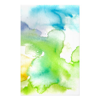 Chic Simple Beautiful Abstract Watercolor Pattern Stationery Paper