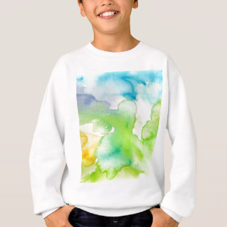 Chic Simple Beautiful Abstract Watercolor Pattern Sweatshirt