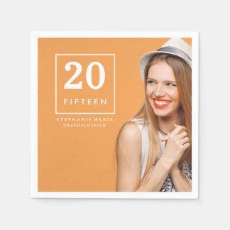 Chic Simplicity | Photo Graduation Napkins Paper Napkin
