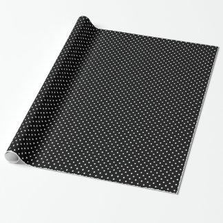 Chic Small White Polka dots black background