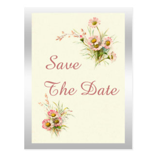 Chic Spring Flowers 21st Birthday Save The Date Postcard