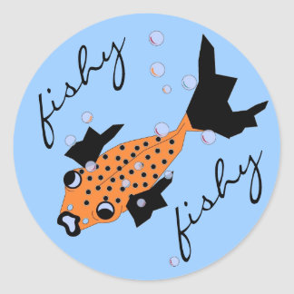 CHIC STICKER_FISHY FISHY SPOTTED GOLDFISH ROUND STICKERS