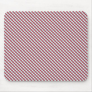 Chic striped american Labor Day Pattern with Stars Mouse Pad