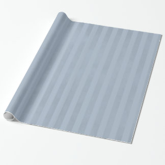Chic Striped Mottled Light Steel Blue Wrapping Paper