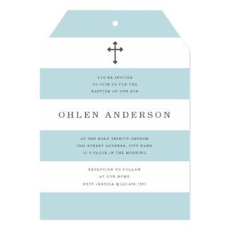 "Chic Stripes Baptism 5"" X 7"" Invitation Card"