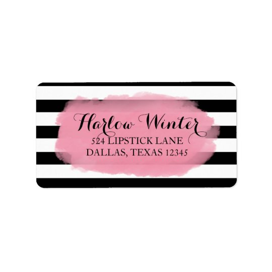 Chic Stripes | Black White Pink