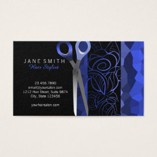 Chic stylish scissor appointment card