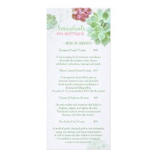 Chic Succulents Massage Spa Price List Menu 1