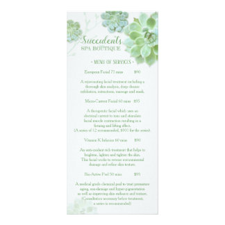 Chic Succulents Massage Spa Price List Menu 2