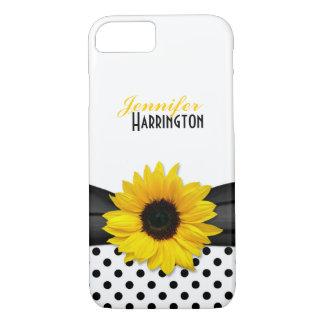 Chic Sunflower Polka Dot iPhone 8/7 Case