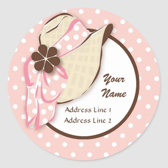 Chic Sunhat Address Label