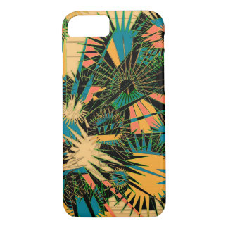 Chic Supernova blue beige yellow salmon phone case